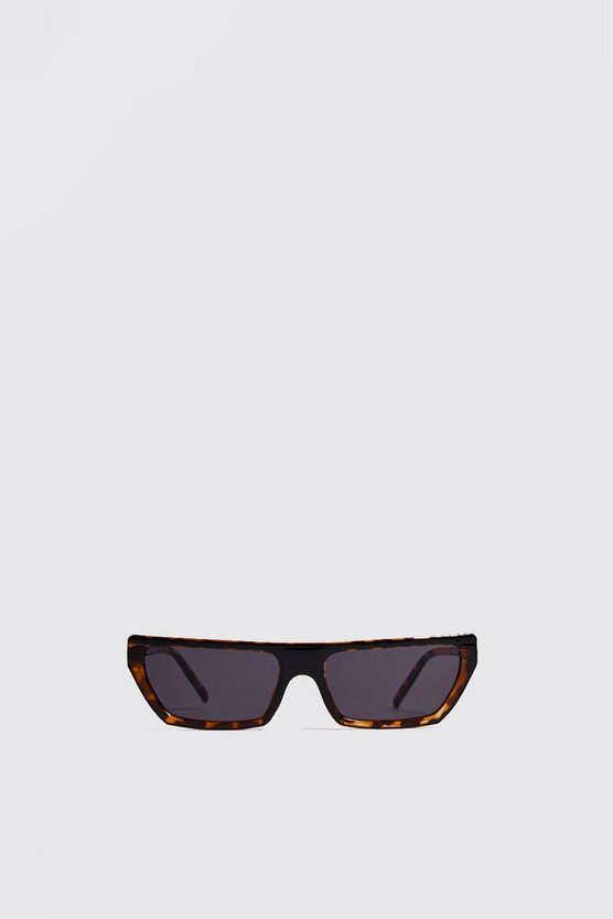 Mens Brown Micro Matrix Sunglasses