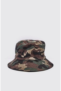 Mens Camo Bucket Hat