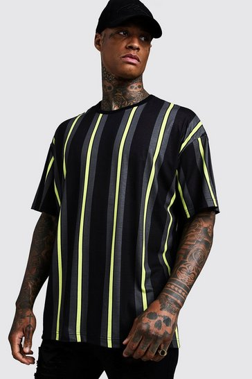 9ca627d0093 Oversized Vertical Stripe T-Shirt