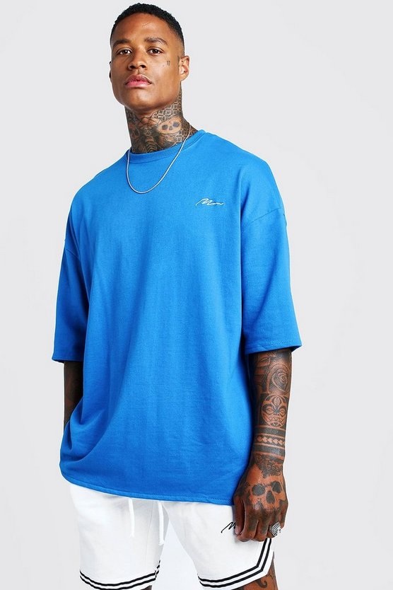 Cobalt MAN Signature Oversized Tee & Short With Tape