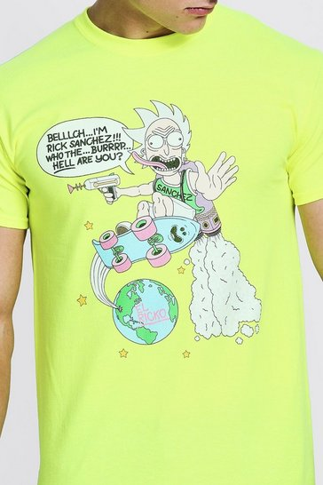 Mens Neon-green El Ricko Rick & Morty License T-Shirt