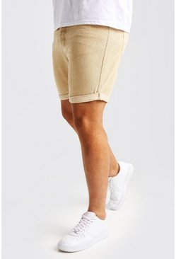 Mens Stone Big And Tall Slim Fit Corduroy Shorts