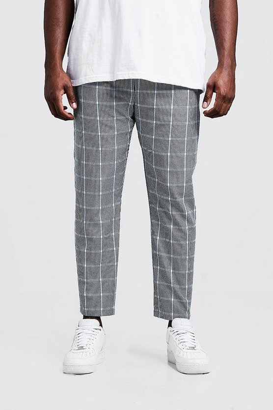 Mens Blue Big & Tall Large Scale Ice Cream Check Jogger
