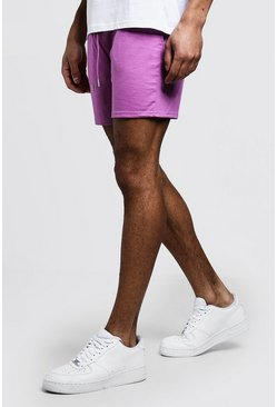 Mens Violet Jersey Short Length Shorts