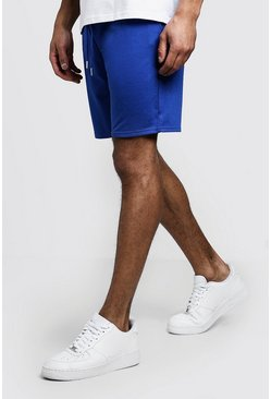 Mens Cobalt Jersey Mid Length Shorts