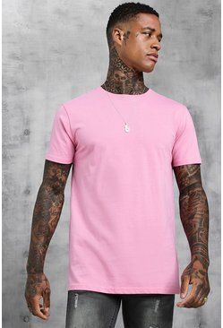 Mens Bubblegum Longline T-Shirt