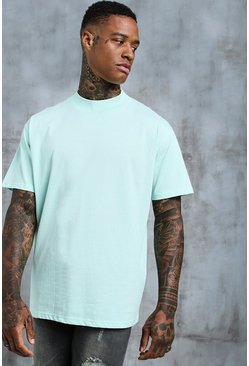 Mens Mint Loose Fit T-Shirt With Extended Neck