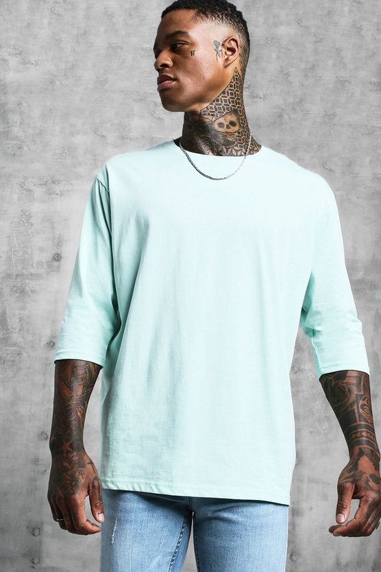 Mint Loose Fit 3/4 Sleeve T-Shirt