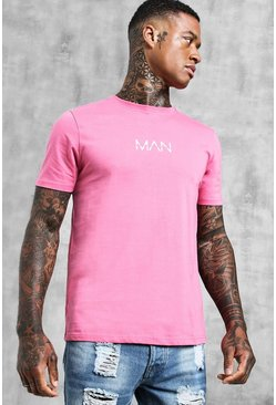 Mens Bubblegum Original MAN Logo Print T-Shirt