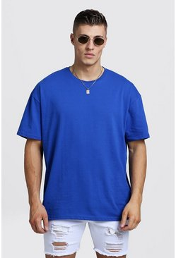 Mens Cobalt Oversized Crew Neck T-Shirt