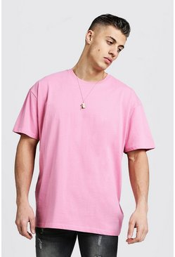 Mens Bubblegum Oversized Crew Beck T-Shirt