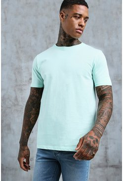Mens Mint Basic Crew Neck T-Shirt