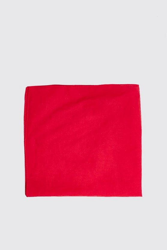 Mens Red Plain Bandana