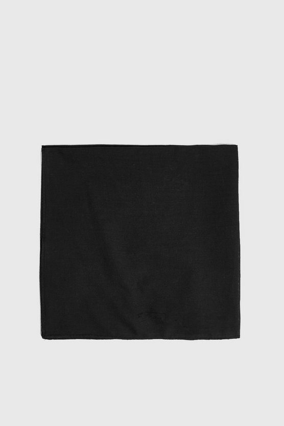 Mens Black Plain Bandana