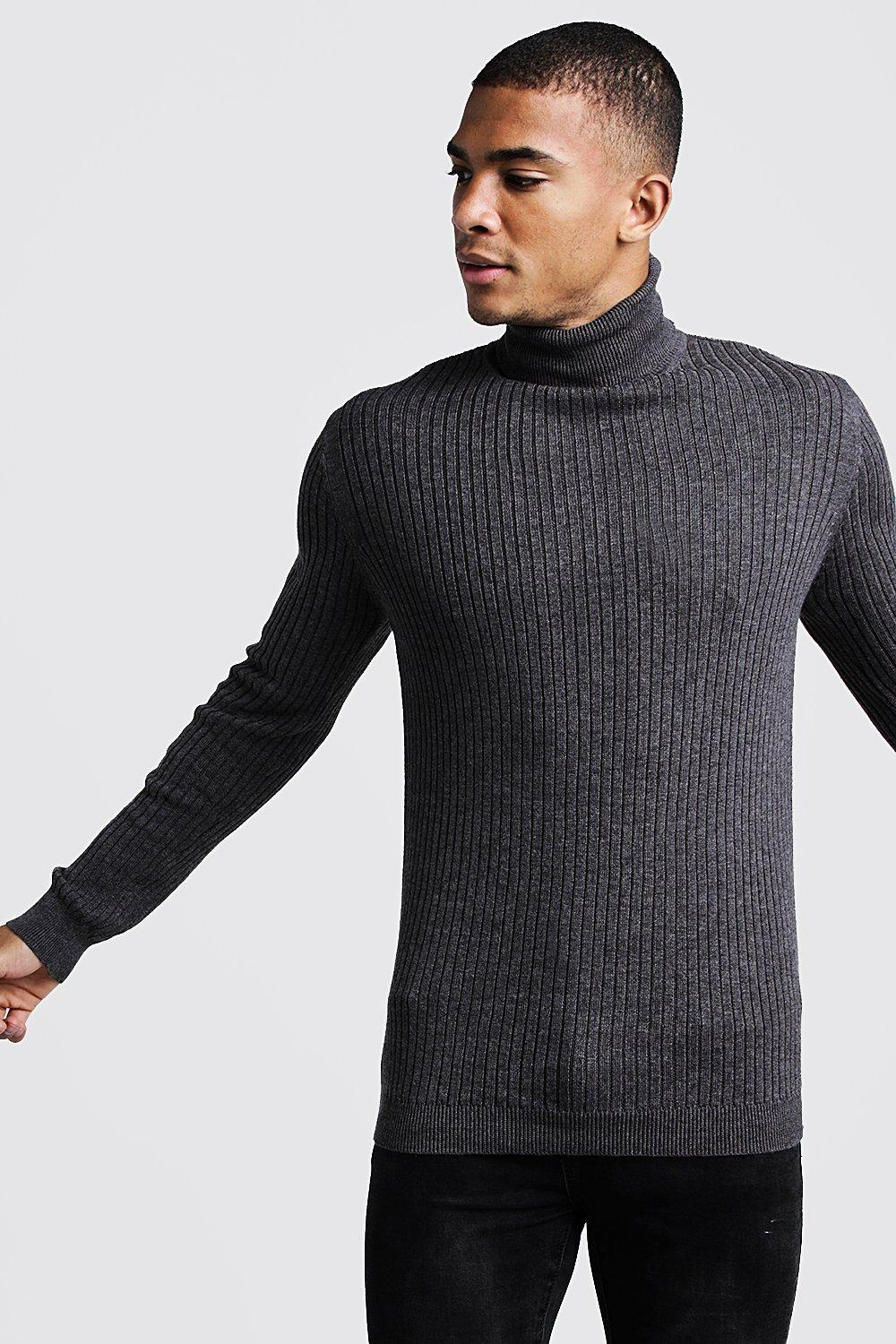 Long Sleeved Ribbed Roll Neck Jumper | Boohoo