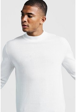Ivory Long Sleeve Turtle Neck Jumper