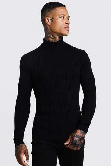 a9a68e64d83 Long Sleeved Ribbed Roll Neck Jumper