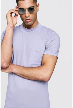 Herr Lilac Muscle Fit With Extended Neck