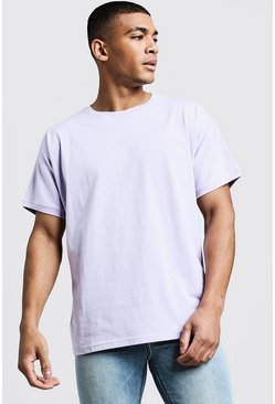 Mens Orchid T-Shirt With Grown On Sleeve