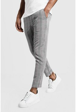 Black Check Smart Jogger Pants