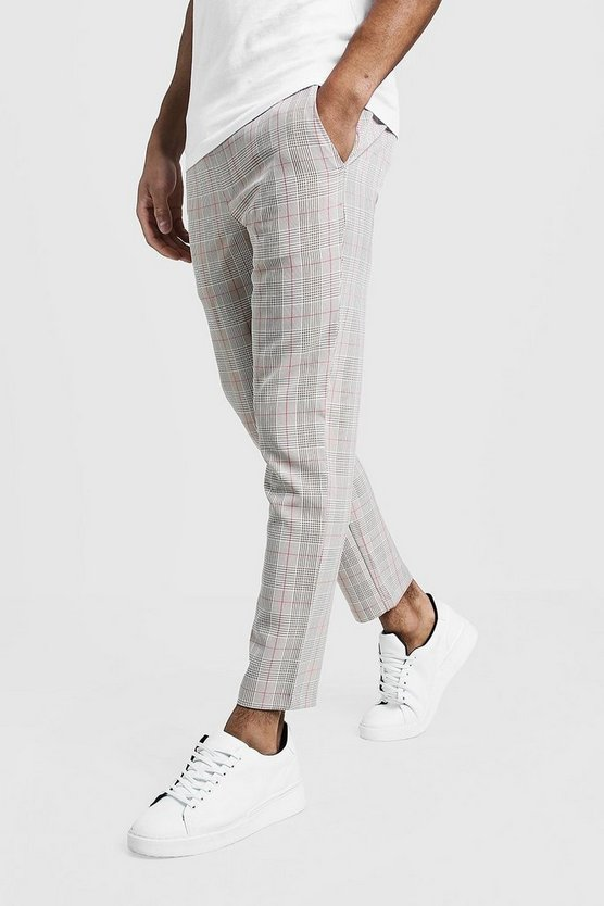 Stone Over Check Smart Jogger Pants