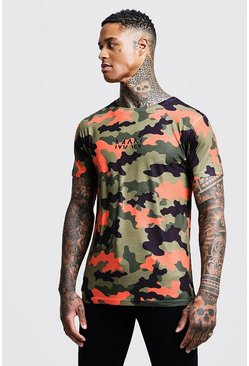 Mens Original Man Camo Printed T Shirt
