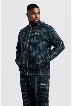 Big & Tall Top de cuadros escoceses Smart MAN, Campestre, Hombre