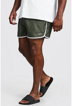Mens Khaki Big & Tall Original MAN Runner Swim Short