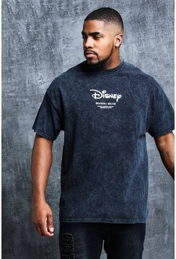 Mens Black Disney Big & Tall Placement Print T-Shirt