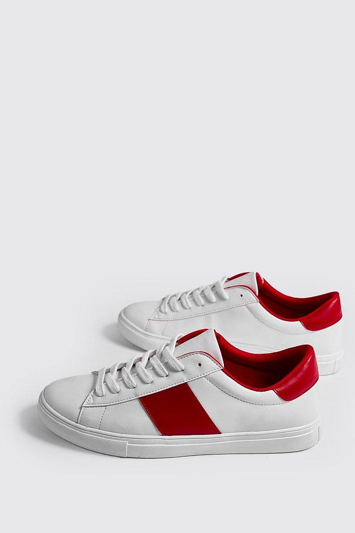 Sneaker mit seitlichen Streifen boohooMAN