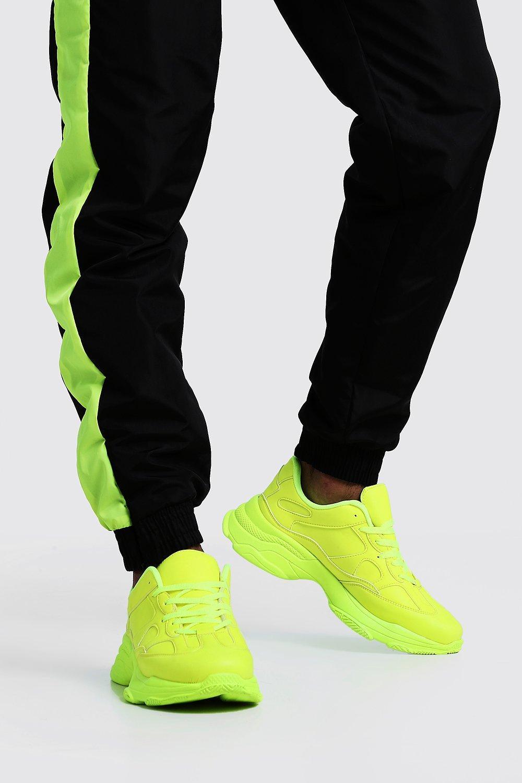 Neon Sole Chunky Trainer | boohoo