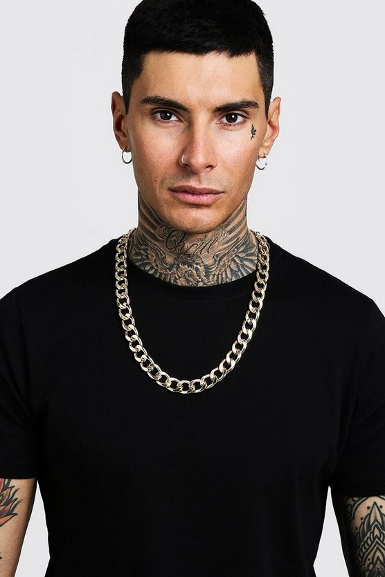 Mens Gold Chunky Chain Necklace