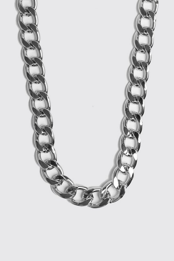 Mens Silver Chunky Chain Necklace