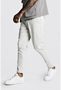 Skinny Fit Chino mit Stretch-Anteil, Steingrau