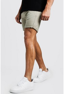 Mens Stone Skinny Fit Stretch Chino Short