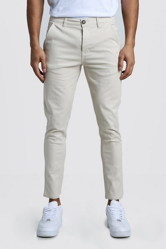 Mens Stone Slim Fit Rigid Chino Trouser