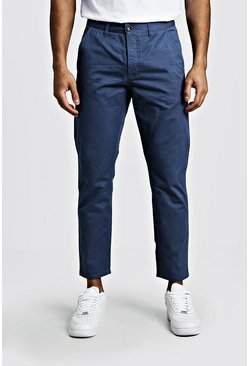 Pantaloni chino rigidi slim fit, Blu polvere, Maschio