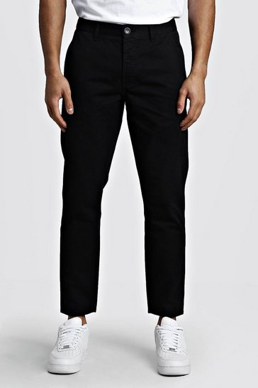 Black Slim Fit Rigid Chino Trouser