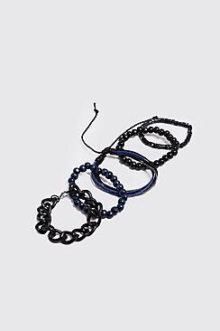 Chain & Woven Stack Bracelets