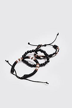 Woven Plait Stack Bracelets