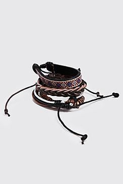 Aztec Woven Stack Bracelets