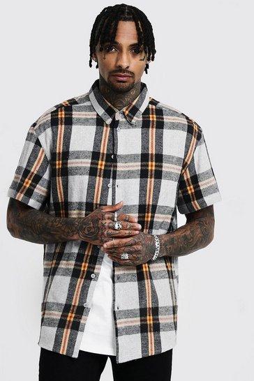 bc9c1f1bc Mens Checked Shirts | Shop Checked Shirts for Men | boohoo UK