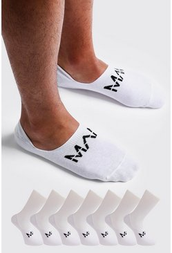 Herr White MAN Dash Invisible 7 Pack Socks
