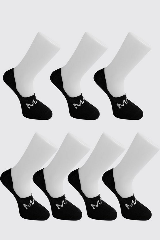 Pack de 7 pares de calcetines invisible Dash MAN, Negro, HOMBRE