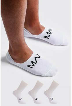 Lot de 3 paires de chaussettes invisibles MAN Dash, Blanc