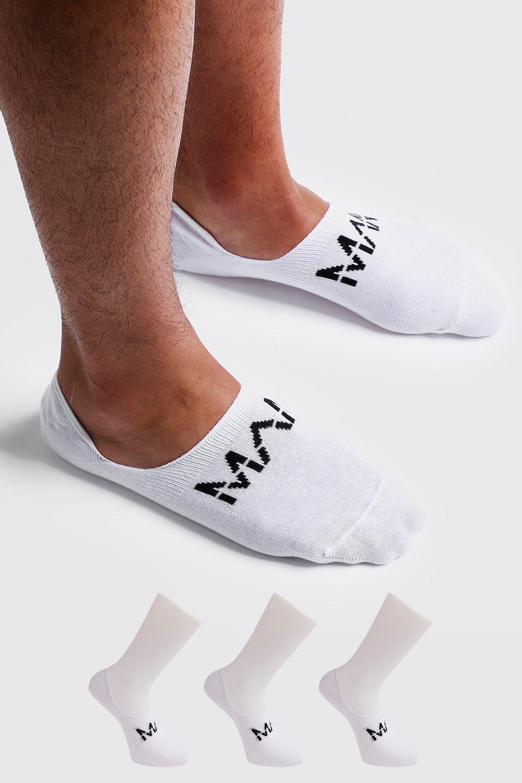 MAN Dash 3 Pack Invisible Socks | Boohoo