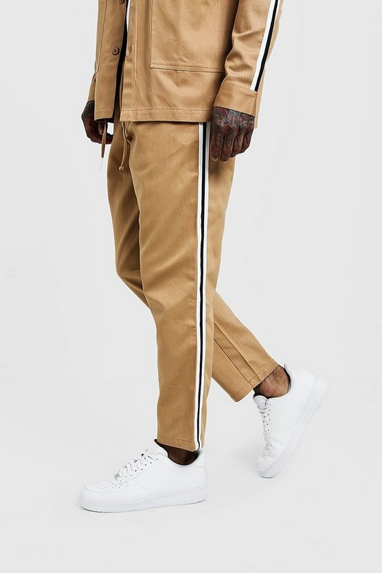 Mens Stone Jogger Chino With Side Tape