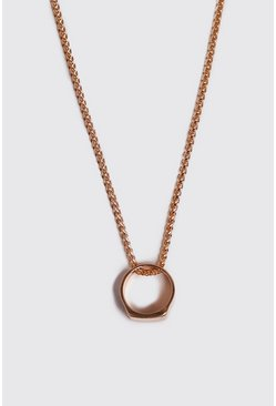 Ring Pendant Necklace, Gold, HOMMES