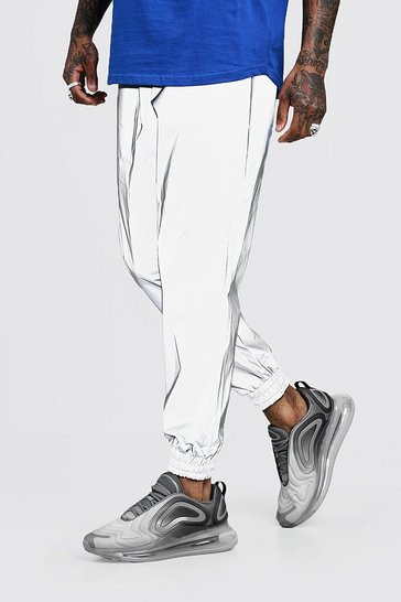Silver Reflective Loose Fit Jogger