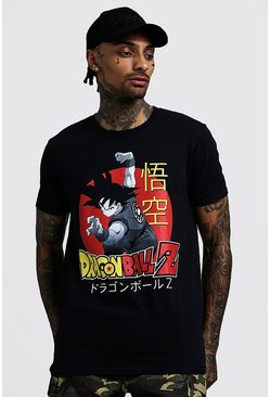 Mens Black Dragon Ball Z License Print T-Shirt